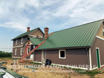 MId Michigan Family Builders Meatal Standing Seem Roof Project 06 23 2018 04