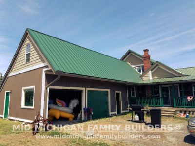 MId Michigan Family Builders Meatal Standing Seem Roof Project 06 23 2018 06
