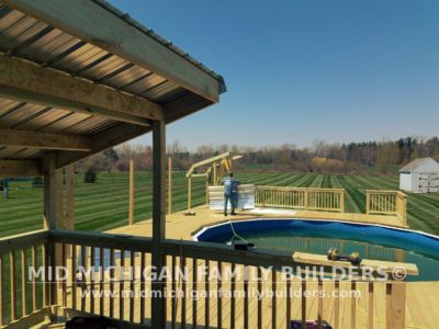 Mid Michigan Family Builders Deck Project Pool 05 11 2018 07