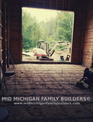 Mid Michigan Family Builders Huge Barn Project 10 2018 14