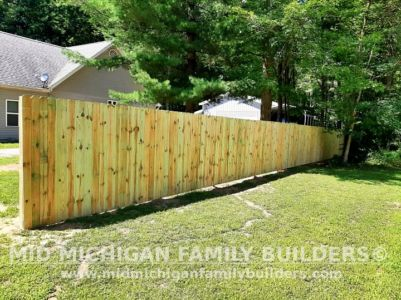Mid Michigan Family Builders New Fence Project 08 2021 01 01