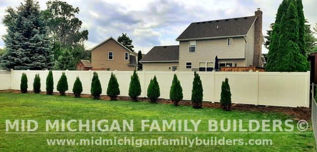 Mid Michigan Family Builders New Fence Project 08 2021 07 02