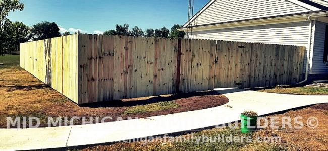 Mid Michigan Family Builders New Fence Project 09 2021 02 01