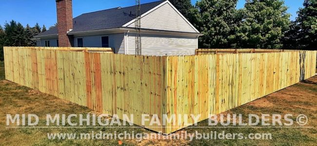 Mid Michigan Family Builders New Fence Project 09 2021 02 06