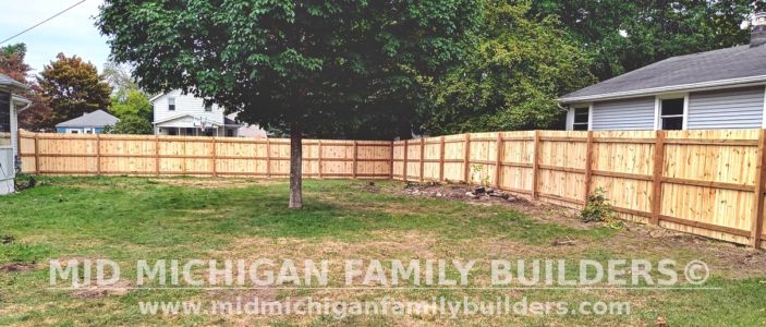 Mid Michigan Family Builders New Fence Project 09 2021 03 01