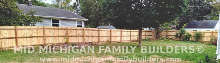 Mid Michigan Family Builders New Fence Project 09 2021 03 02