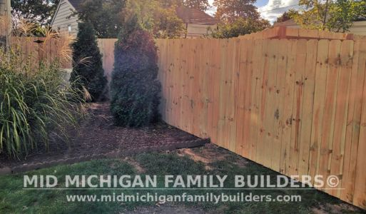 Mid Michigan Family Builders New Fence Project 09 2021 04 02