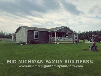 Mid Michigan Family Builders Siding Front Porch Roof Garage Project 06 2019 01 04