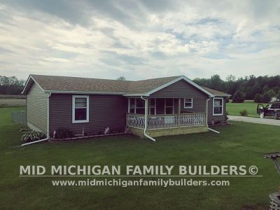 Mid Michigan Family Builders Siding Front Porch Roof Garage Project 06 2019 01 13