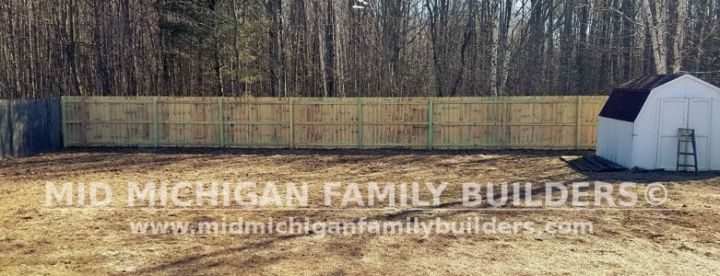 Mid Michigan Family Builders Wooden Fence Project 03 2019 01 03