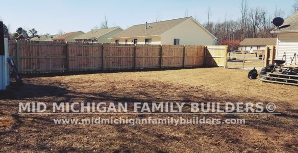 Mid Michigan Family Builders Wooden Fence Project 03 2019 01 04