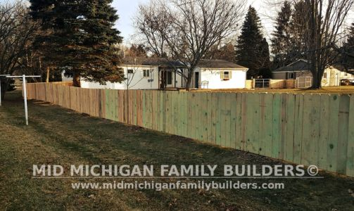 Mid Michigan family Builders Wooden Fence Project 01 2019 02