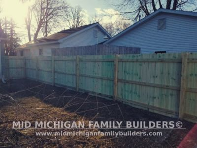 Mid Michigan Family Builders Wooden Fence Project 04 2019 01 04