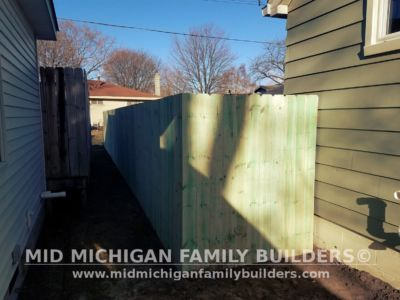 Mid Michigan Family Builders Wooden Fence Project 04 2019 01 06