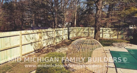 Mid Michigan Family Builders Wooden Fence Project 05 2019 02 02