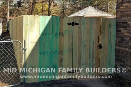 Mid Michigan Family Builders Wooden Fence Project 05 2019 02 05