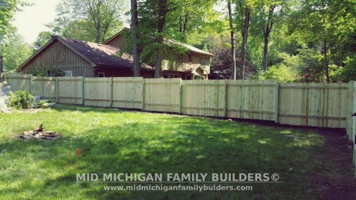 Mid Michigan Family Builders Custom Construction Project Fence Fencing