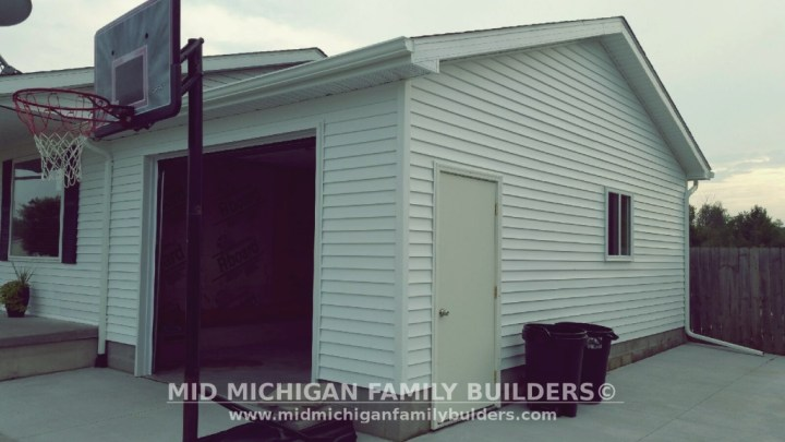 Mid Michigan Family Builders Custom Construction Project Garage Addition garages