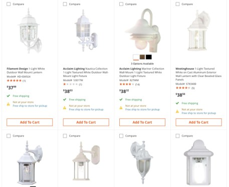 sconce options