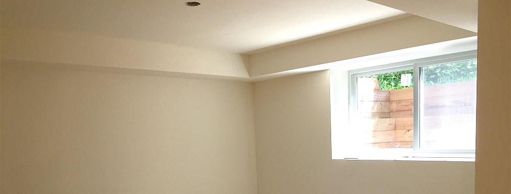 Progress: The basement drywall is in!