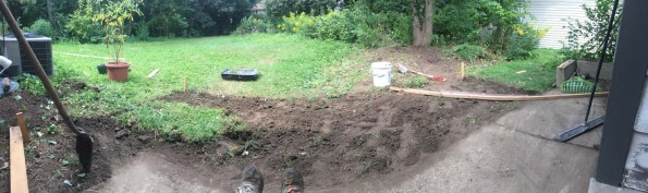 patio sod removal