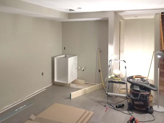 setting up ikea cabinets