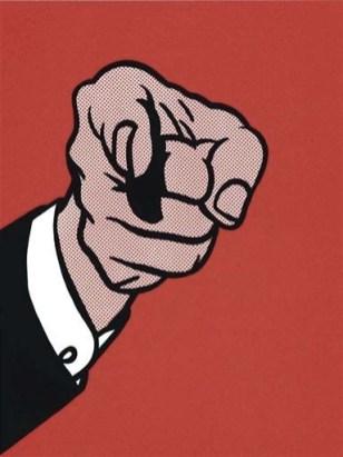 red art_lichtenstein pointing finger