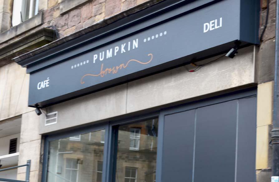 Healthy Eating in Edinburgh   Pumpkin Brown Cafe Review