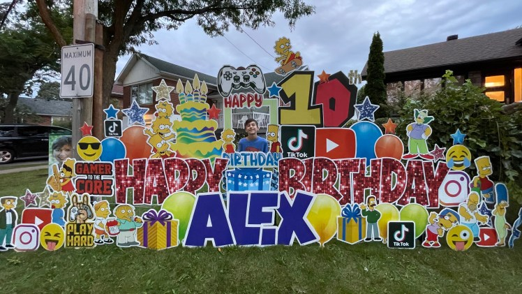 Birthdays Get an Upgrade with Montreal Lawn Signs