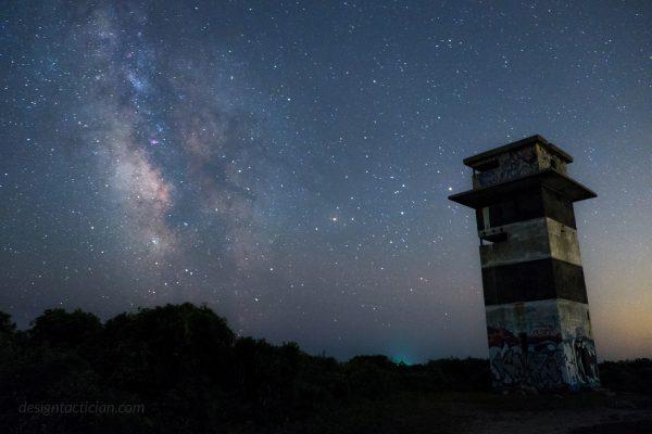 Milky Way Galaxy over Gooseberry Island in Westport, Massachusetts