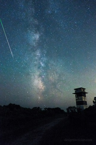 Perseid Meteor Shower over Gooseberry Island, Westport Massachusetts