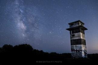 Milkyway Galaxy over Gooseberry Island in Westport, Massachusetts
