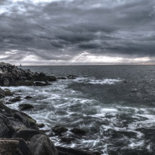 Stormy skies over Sakonnet Point, in Little Compton, Rhode Island
