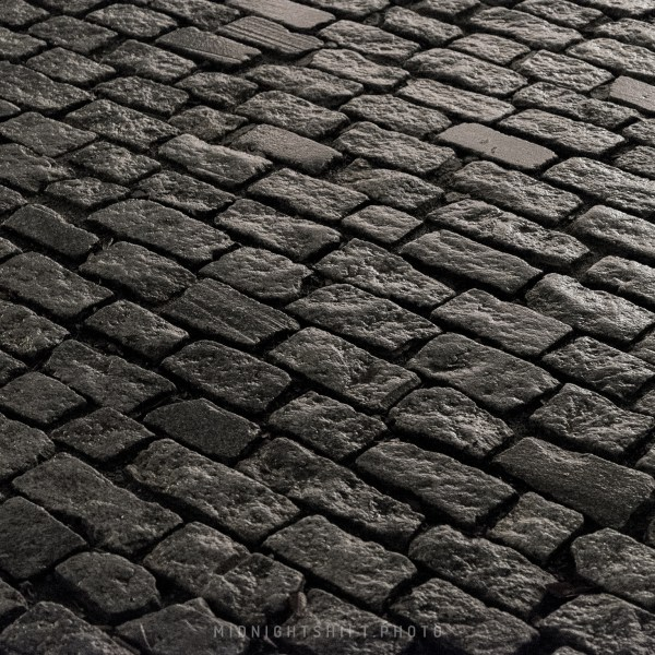 A cobblestone road stands the test of time in historic New Bedford, Massachusetts