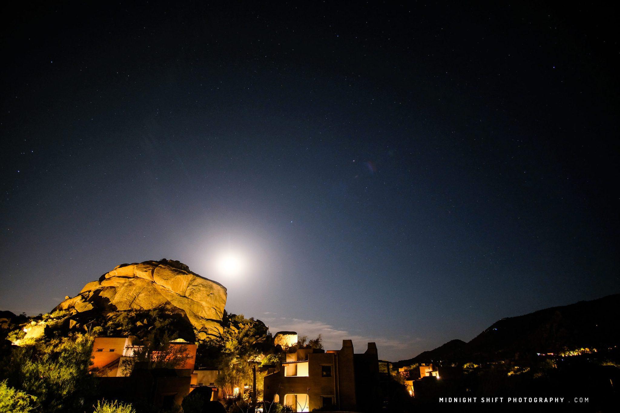 Moon over Arizona