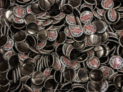 Antique vote buttons for the USA