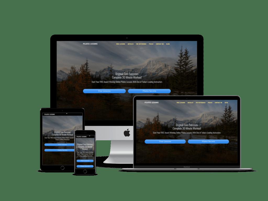 Pilates website design