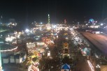 From high atop the giant Ferris Wheel.