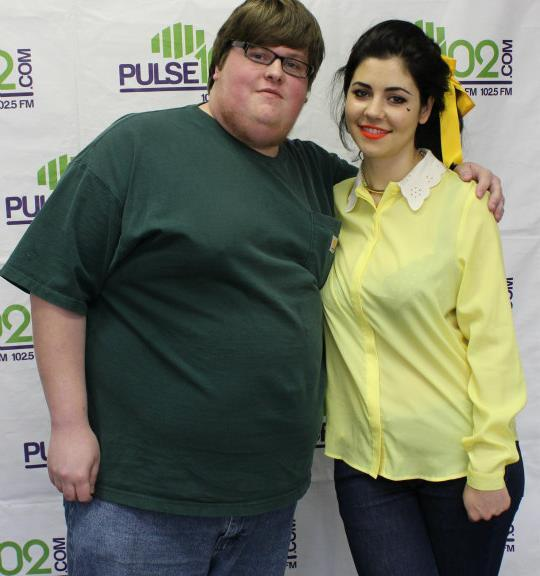 Posing with Marina & the Diamonds. Photo Credit: Pulse 102 FM