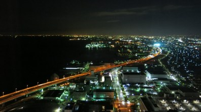 Osaka Bay at night