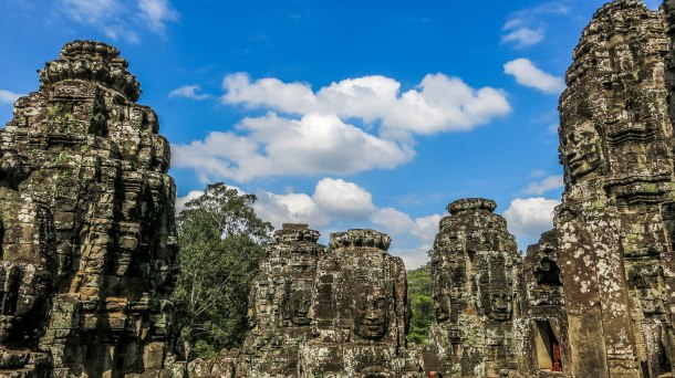 The beautiful Bayon temple