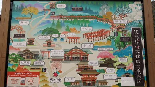 "like what I mentioned earlier, Fushimi Inari Shrine is more than just the iconic torii. Seeing this map was an ""oh, wow!"" moment for me"