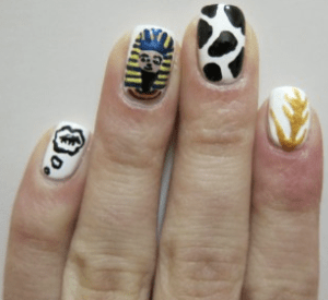 Egyptian Nail Art
