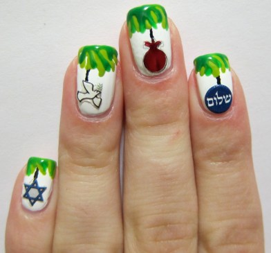 Sukkah Nail Art