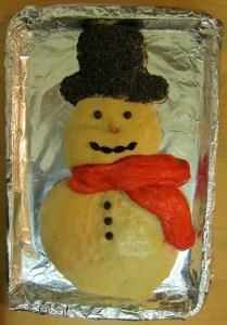 Snowman Challah