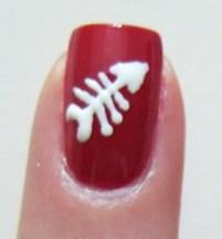 Dead fish nail art