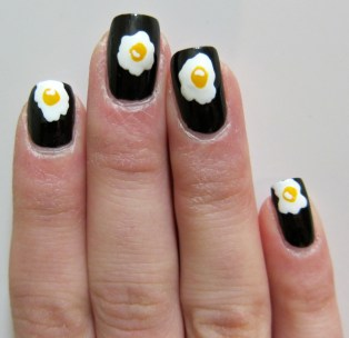 Egg Yolk Nail Art