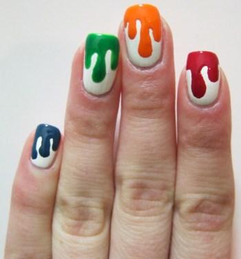 Paintbrush artist Nail art