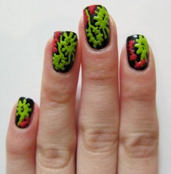 Bacteria nail art