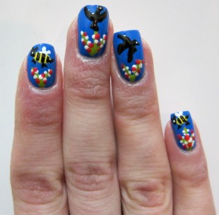Birds and Bees Nail Art
